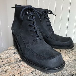 Funky Enzo Leather Lace Up Booties 10